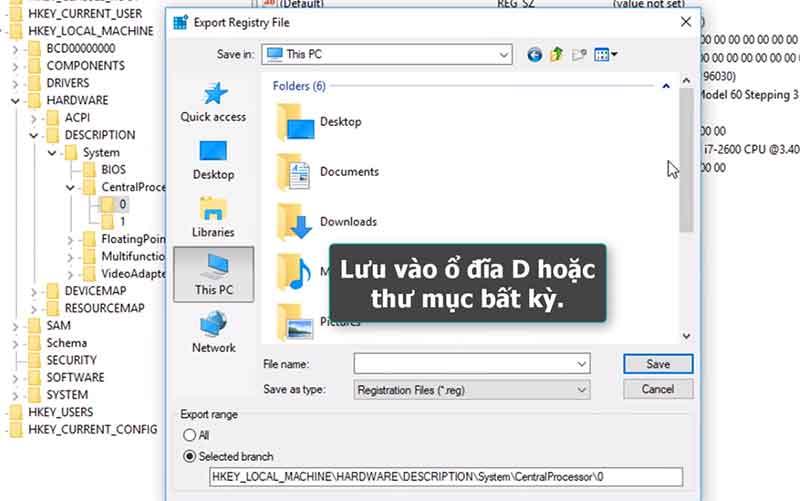 Lưu file fake dxdiag