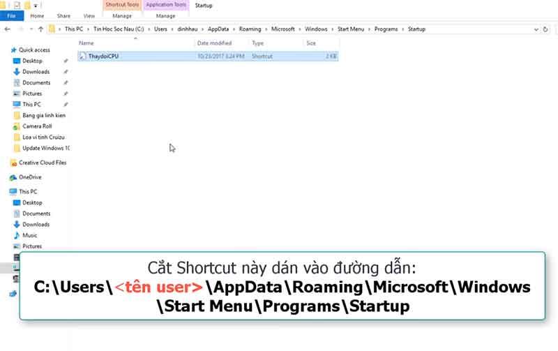 Tao shortcut link file fake cpu