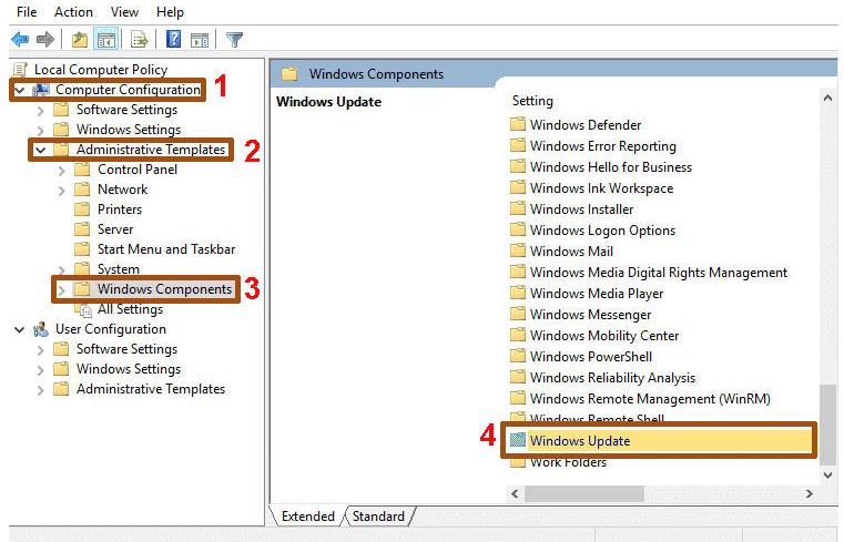 Hình ảnh minh họa tắt update windown trên win 10