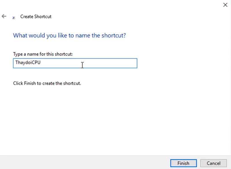 Dặt tên file shortcut